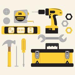 Clip Art Tools and Toolbox Set