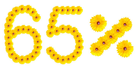 figures 65% of the letters written by flowers