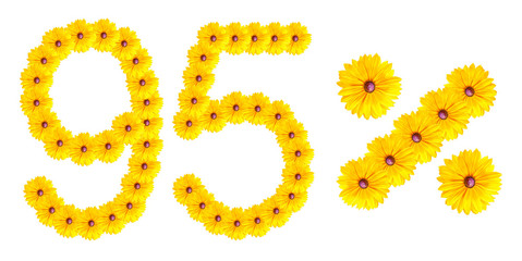 figures 95% of the letters written by flowers