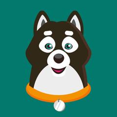 Flat pet dog illustration