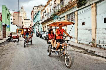 Cuba, La Habana Centro, Bicitaxis