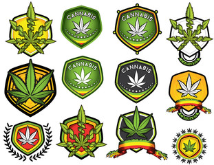 marijuana cannabis leaf decorative jamaican stamps