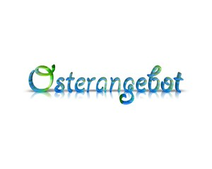 Frohe Ostern 3D Wort