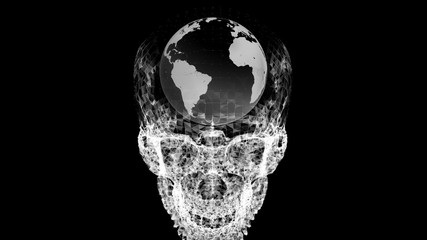 Skull Earth graphics 02 B