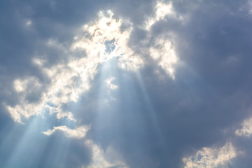 abstract cloud and sunlight on the sky