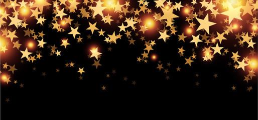 Black starry banner.