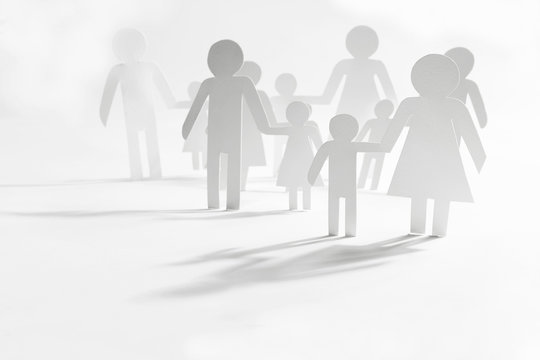 Group of people with children