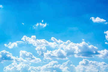 abstract white cloud with sunlight on the blue sky