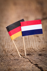 Flags of Germany and Netherlands