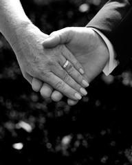 Two hands, wedding