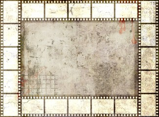 Grunge film strip frame. Gray  tones