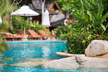photo pool in one of the Resort in Thailand