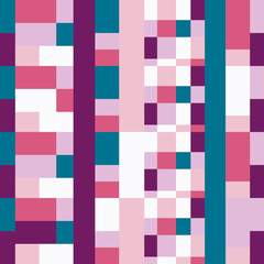 Vector seamless pattern for web design, prints etc.. Modern stylish texture. Repeating geometric background with rectangkes in bright colors.