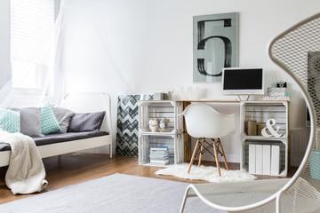 DIY desk in stylish room