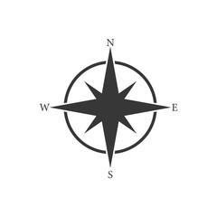 Simple icon compass. Vector