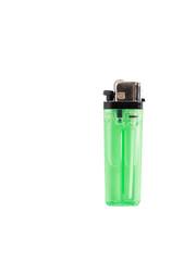 Green lighter isolated on white