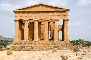 The Temple of Concordia in the Valley of Temple, Agrigento, Sicily, Italy