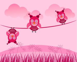 Romantic owls on line