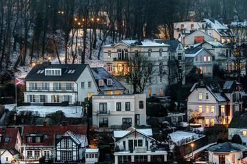 Blankenese - Bornholdts Treppe im Winter