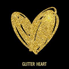 Hand drawn glitter heart.