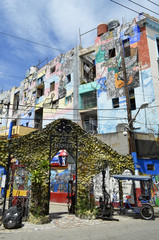 Hamel's Alley is an outdoor gallery art in Havana (Cuba), where different pieces of mural and sculptural art are exposed.
