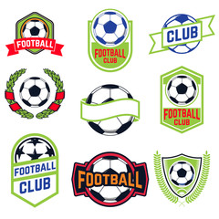 Set of football emblems