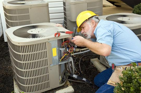 Repairing Air Conditioning Unit
