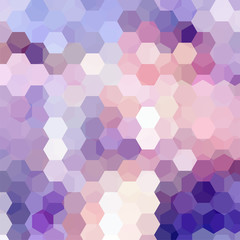 Background made of hexagons. White, pink, purple colors. Square composition with geometric shapes. Eps 10
