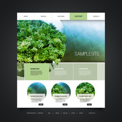 Website Design for Your Business with Eco Header Design