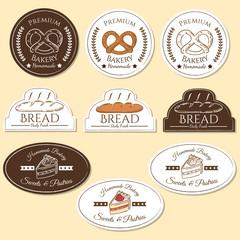 Bakery logo badges