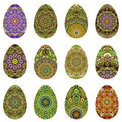 Easter egg design set