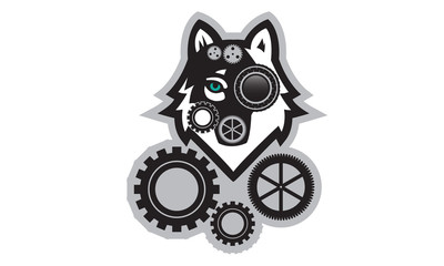 Wolf Steampunk 0001