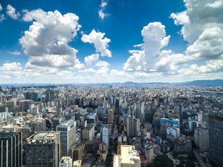Aerial View of Downtown Sao Paulo, Brazil