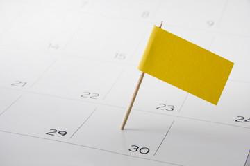 Flag on the event day on calendar