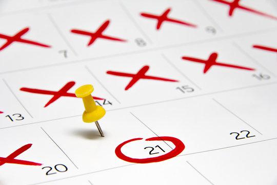 Calendar Event Pin 2016 Date