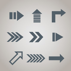 Arrows isolated set. Vector
