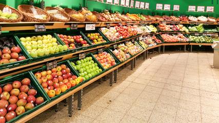 Gemüse Obst im Supermarkt