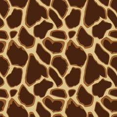 Giraffe skin seamless pattern, vector illustration background
