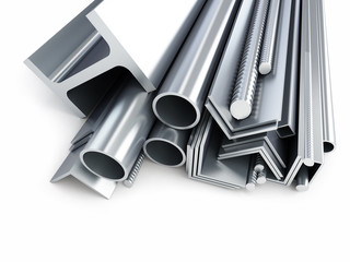 rolled metal products, metal pipes, angles, channels, squares.