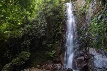 Middle Fall of the Ng Tung Chai Waterfalls at the New Territories in Hong Kong, China.