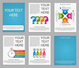 Collection Infographics for business brochures and presentations.