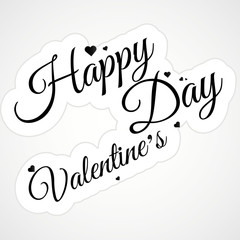 HAPPY VALENTINE'S DAY  lettering calligraphy, vector