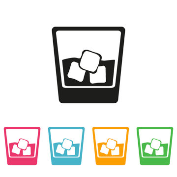 Glass of whiskey icon  - Vector
