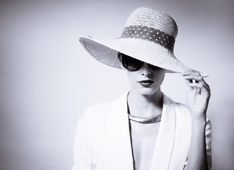 Female fashion portrait.