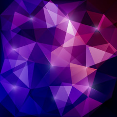 Abstract triangular mosaic purple background