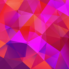 Abstract triangular mosaic red background