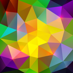 Abstract triangular colorful mosaic background