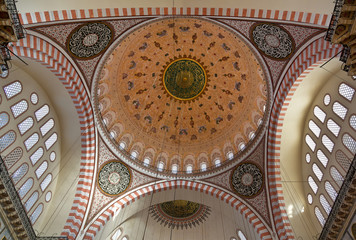 nternal view of Blue Mosque, Sultanahmet, Istanbul