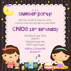 Slumber Party Invitation Card
