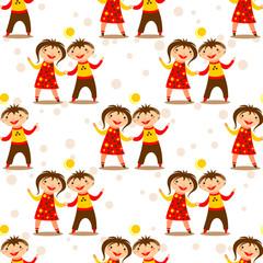 children seamless pattern